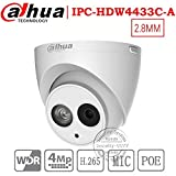 Dahua 4MP Security Camera, IPC-HDW4433C-A, Network Camera, Night Vision, Eyeball Dome IP Camera, 4 Megapixel IR 50M WDR POE H.265 Built-in MiC Weatherproof IP67 2.8mm Review