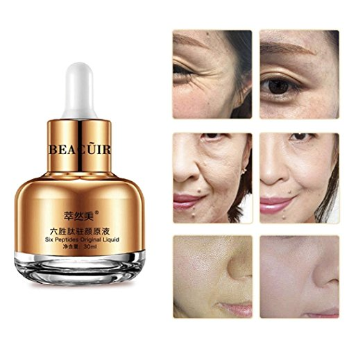 Price comparison product image AMA(TM) Anti Wrinkle Collagen for Face Skin Care, Anti-Aging Moisturizing Whitening Essence Liquid Cream (Gold)