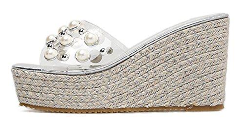 silver libre aire a CYGG a al New de Zapatos Women's Fashion nueva de Summer High de la Heels Zapatos cu cu HqwSRxU