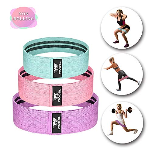Woosl Hip Bands Resistance Bands For Legs And Butt Booty Bands Hip Heavy  Resistance Cloth Fabric Loop Circle Bands Elastic Exercise Strength Bands For Women Men Cotton Glute Wide No Slip Set Of 3
