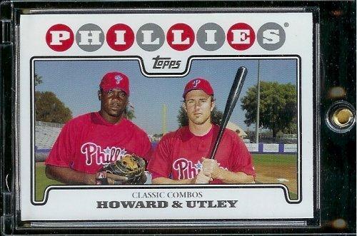 2008 Topps Baseball Cards # 98 Ryan Howard - Chase Utley - Philadelphia Phillies - MLB Baseball Trading Card ()