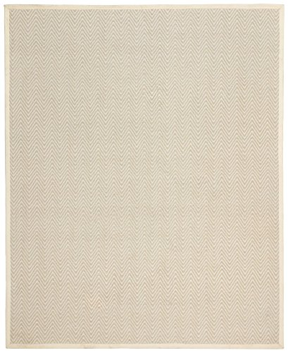 Rivet Elevated Chevron Patterned Area Rug, 9' x 12', Cream