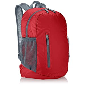 AmazonBasics Ultralight Packable Day Pack, Red, 35L