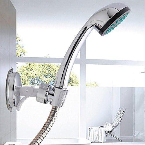 Adjustable Bracket Suction Shower Handset Holder Bathroom Wall Mount LC