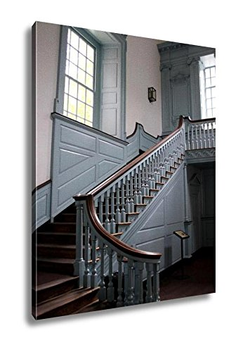 Ashley Canvas Colonial Staircase, Home Office, Ready to Hang, Color 25x20, AG5470777 20 Piece Master Spindle
