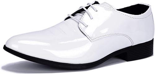 ZZHAP Men's Pointed-Toe Tuxedo Dress
