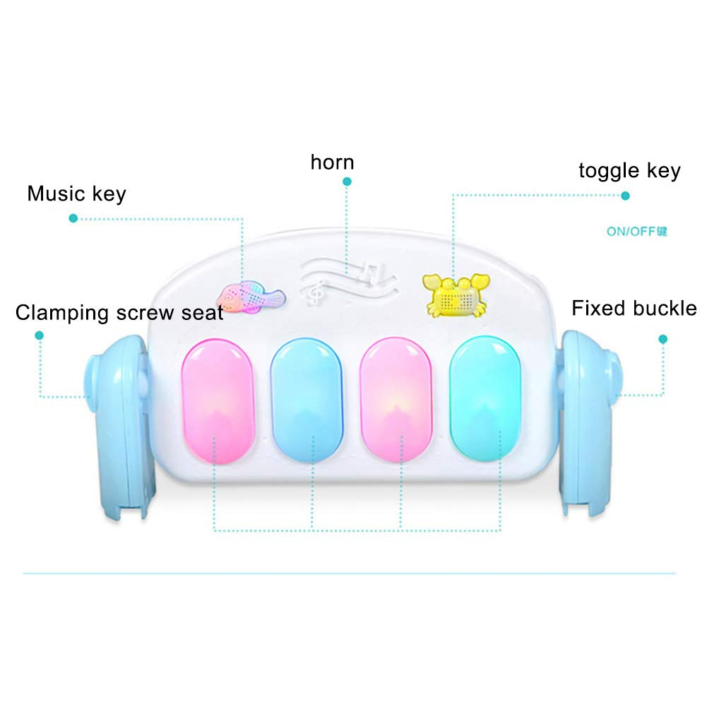 LamicAR Baby Cartoon Cradle Education Toy Fitness Frame Piano Music Blanket Crawling Mat Light Pink by LamicAR (Image #8)