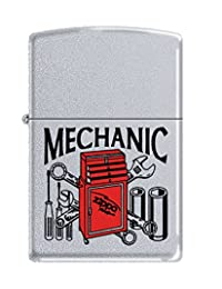 Mechanic Zippo Outdoor Indoor Windproof Lighter Free Custom Personalized Engraved Message Permanent Lifetime Engraving on Backside