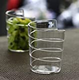 Plastic Clear Spiral Mini Dessert Cups Pack of Sixty