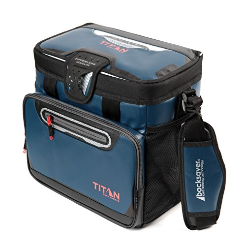 Ice Cooler Bag (Arctic Zone Titan Deep Freeze 16 Can Zipperless Cooler, Blue)