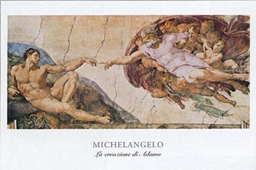La Crezione Di Adamo by Michaelangelo 16x20 Art Print (Adamo Poster)