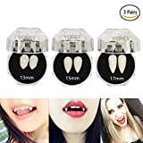 Toys : YOHEE 3 Pairs Vampire Teeth Fangs Dentures Cosplay Props Halloween Costume Props Party Favors