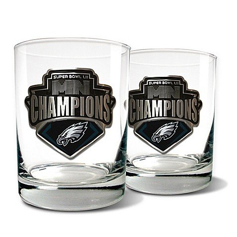 NFL Philadelphia Eagles Super Bowl LII Rocks Glasses (Set of 2)
