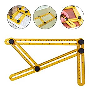 WEBSUN Multi Angle Measurement Ruler General Angleizer Template Measure Ruler and Layout Tools for Craftsmen DIY-ers Architect Engineer Designer