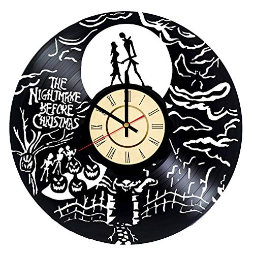 Kingdom Hearts Vinyl Clock Gift for Sally and Jack Fans Halloween Town Wall Decor Nightmare Before Christmas Living Room Artwork