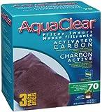 Aquaclear Activated Carbon Insert, 70-Gallon Aquariums, 3-Pack