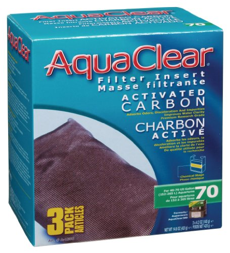 Inserto de carbón activado acuaclear, acuarios de 70 galones, paquete de 3