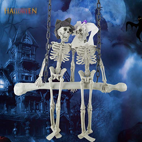 Halloween Decor Hanging Hanging Skull Bride and Groom Home Bar Decoration Props -