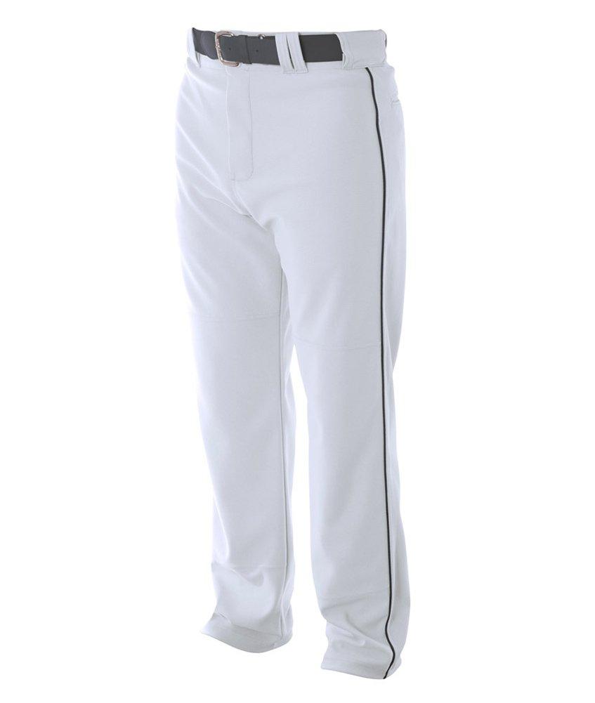 A4 野球用 バギーパンツ メンズ プロ仕様 パイピング入り B003M0Q946 S|ホワイト/ブラック ホワイト/ブラック S