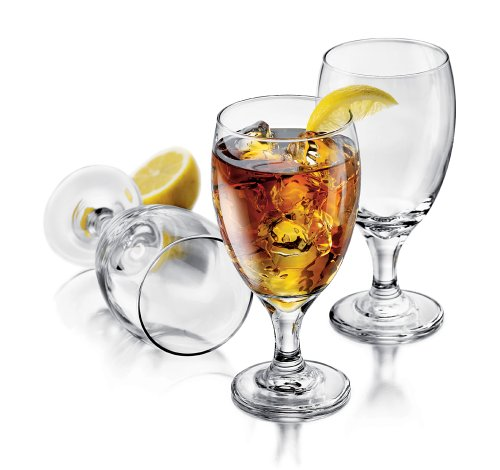 Libbey Catawba Footed Ice Tea Glass 4 piece Set