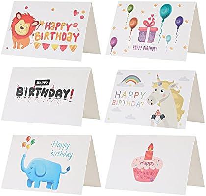 Kesote Conjunto de 24 Tarjeta de Cumpleaños Tarjeta de 6 ...