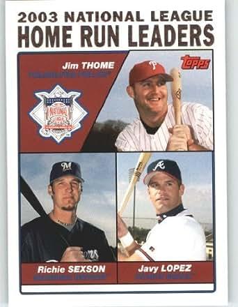 amazon   2004 topps baseball card 345 jim thome