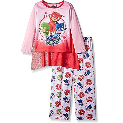 PJ Masks Girls Pajamas with Cape (Toddler/Little Kid/Big Kid)