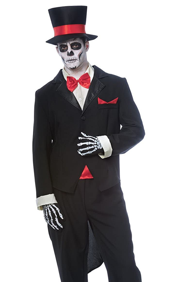 Amazoncom Day Of The Dead Groom Costume Standard Chest Size 42