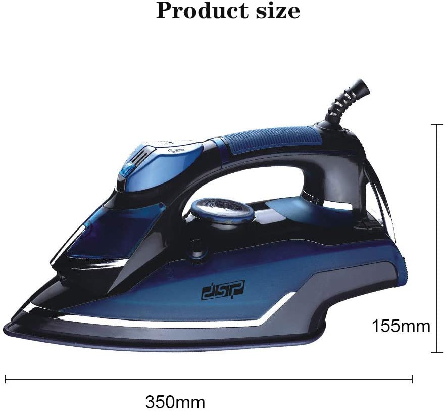 2000W Power Electric Steam Iron Adjustable Temperature Self Clean High Pressure Boost Steam Non-Stick Ceramic Soleplate Dry Ironing Steam Ironing 2violet (380ml)