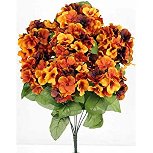 Admired By Nature 2 Artificial Full Blooming Stain Hydrangea for Home, Restaurant, Wedding & Office Decoration Arrangement, 7 Stems 109