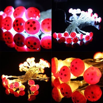 Lights & Lighting - 2m 20 Led Mushroom Fairy Wire String Light Battery Outdoor Garden Christmas Party Decor - Mushroom Light Decoration Lights Outdoor Decor Decorations Party - For - 1PCs ()