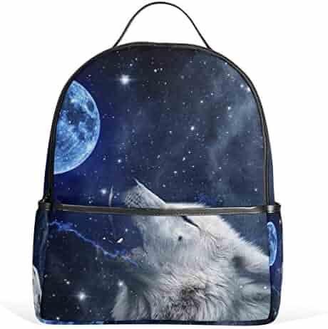 3696dbd4e7 JSTEL Wolf School Backpack 4th 5th 6th Grade for Boys Teen Girls Kids