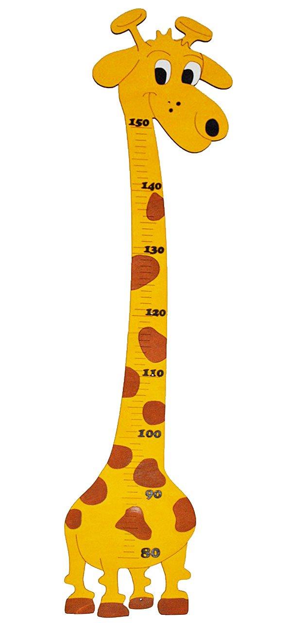 Ki.. alles-meine.de GmbH Me/ßlatte lustige Giraffe Messlatte Kinderzimmer aus Holz Giraffen f/ür M/ädchen Jungen Holzme/ßlatte f/ür Kinder Holzme/ßlatte // Kind Tier Tiere