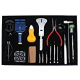 20 Pcs Deluxe Watch Repair Tool Kit with Screwdrivers Watchband Link Pin Remover and More