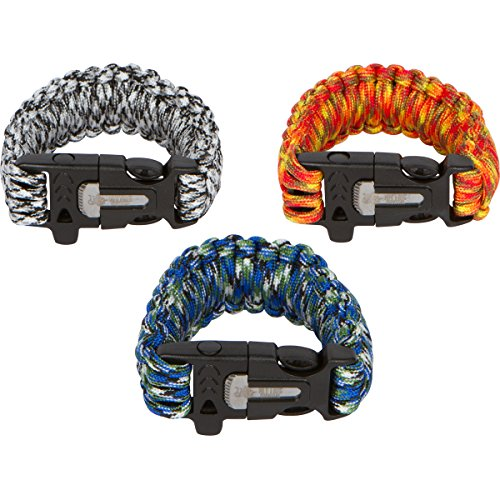 3-pack-Survival-Bracelets-Size-Small-with-Built-in-Fire-Starter-Fishing-Kit-550-Paracord-Rescue-Whistle-Tinder-and-Cutting-Knife