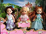 "Barbie Kelly Rapunzel""s Wedding Flower Girls Dolls (2005)"