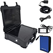 ACOPOWER ALL-IN-ONE With Portable & Rechargeable Solar Power System With 20W Solar Panel for Home Use, Military...