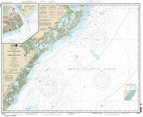 NOAA Chart 12318: Little Egg Inlet to Hereford Inlet; Absecon Inlet 34.4 x 42.1 (TRADITIONAL PAPER)