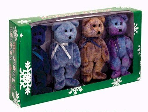 Set Boxed Exclusive (Ty Jingle Beanies Clubby - Boxed Set of 4 (BBOC Exclusive))