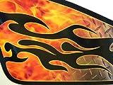 East Coast Vinyl Werkz Fuel tank decals for Harley Davidson Sportster -'Torched Diamond Plate'