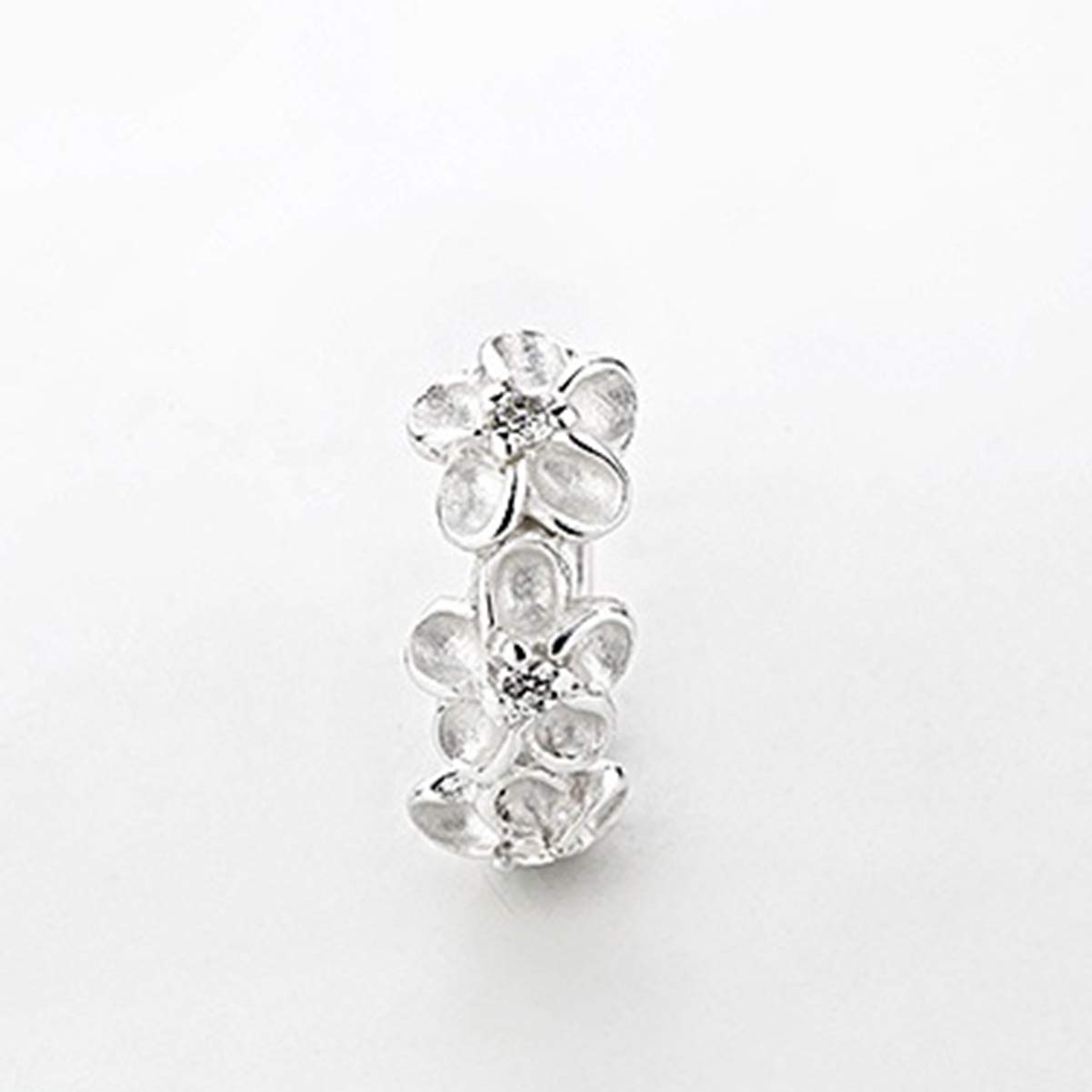 Mini Flower Hoop Earrings Mothers Day Gifts 14MM 925 Silver//18K Rose Gold Plated