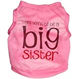 Ollypet Best Seller Dog Shirt Big Sister For Girl Small Pet Vest T shirt Funny Outfit XS/S/M/L
