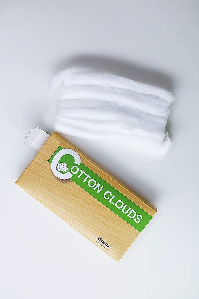 VapeFly Nubes de algodón | Precargado | 3 mm / 5 pies | 100% Auténtico Vaping eCig Cotton RTA RDA RDTA: Amazon.es: Salud y cuidado personal