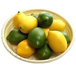 Gresorth 12pcs Yellow & Green Artificial Lifelike...