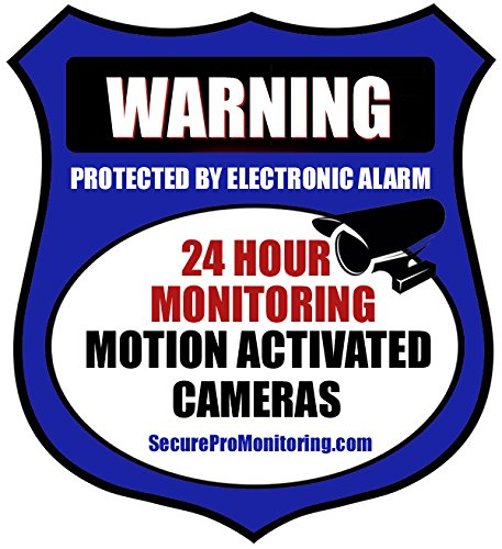 10''REAL'' Blue Burglar Alarm Video Surveillance Security Decals Door & Window Stickers