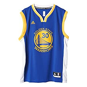 adidas Golden State Curry Camiseta, Hombre, Azul/Amarillo, 2XL