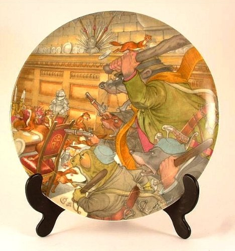 Wedgwood Wind in the Willows collector plate by Eric Kincaid The Four Heroes CP746