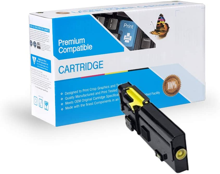 Yellow Works with: C2660DN C2665DNF InkSurf Compatible Toner Replacement for Dell 593-BBBR