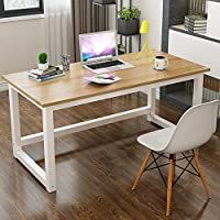 Computer Table, Home Office 1.2m Large Office Table Computer Table with 2.5cm Thicker Computer Desk Tabletop Modern…