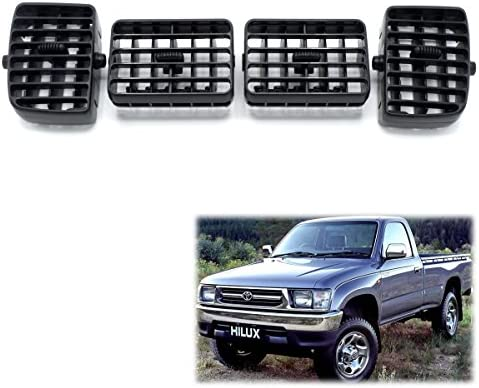 Powerwarauto Grille Air Condition Ventilator Grey For Toyota Hilux Tiger LN145 2 Doors 4 Doors 1997 05